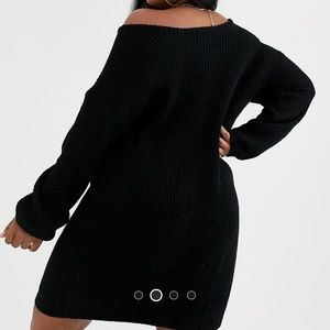 Missguided off shoulder sweater dress